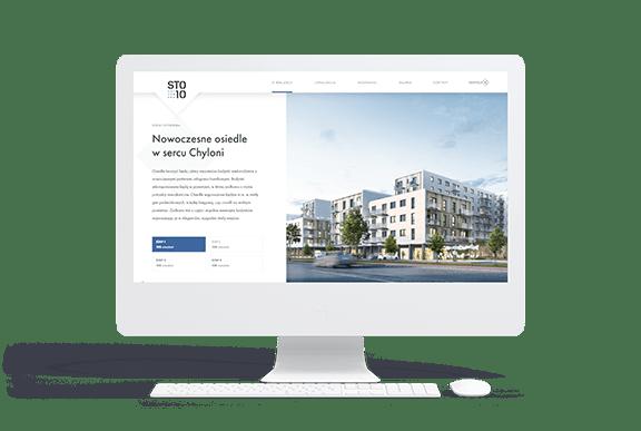Strona internetowa dla inwestycji deweloperskiej STO10 Chylońska