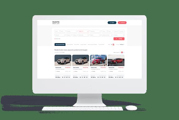 Portal z ofertami samochodów dla Plichta Dealer Park
